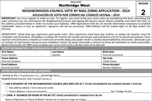 NC-Election-2014-Vote-By-Mail-Application-Region-2-Northridge-West-with-NWNC-on-form-1