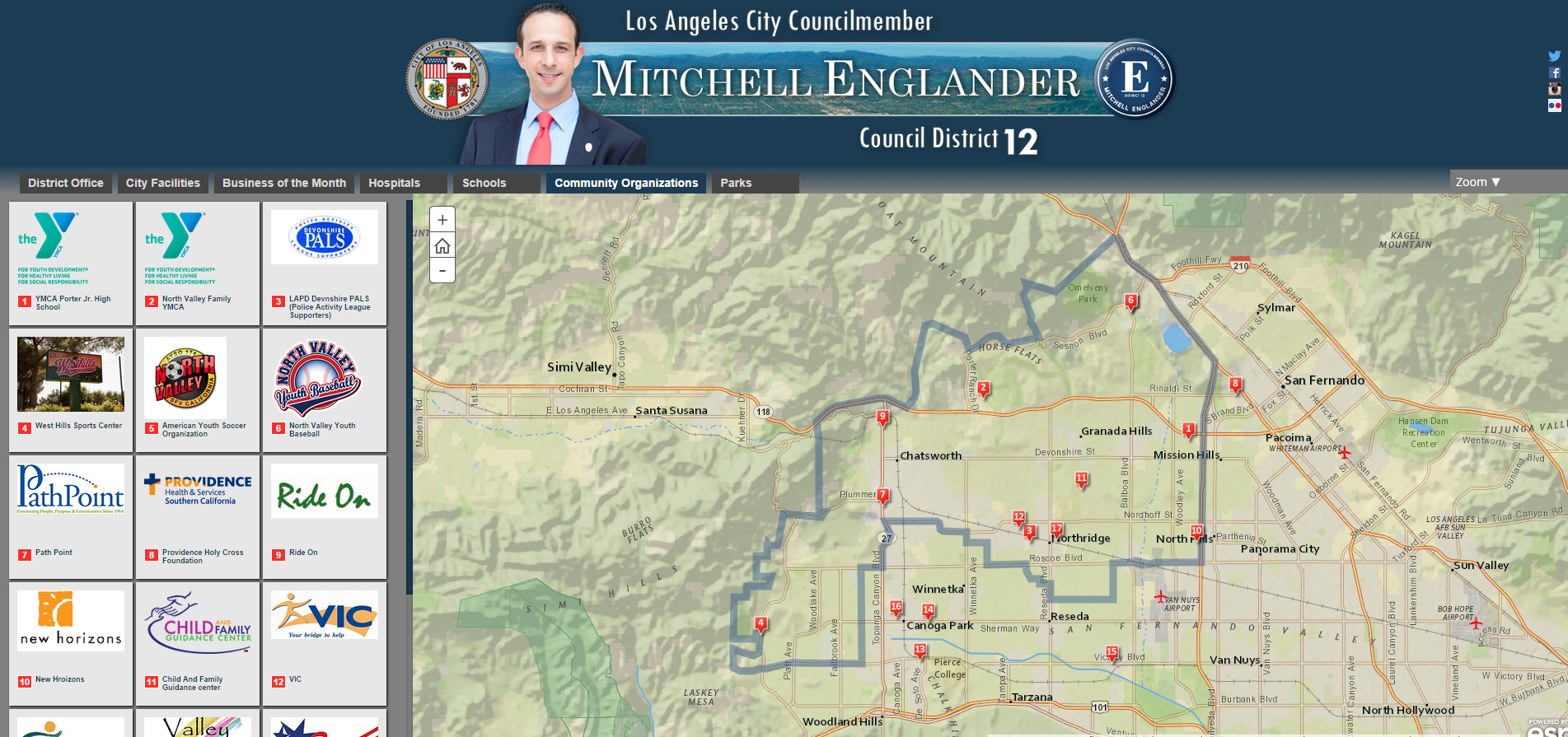 Los Angeles City Council District  Website