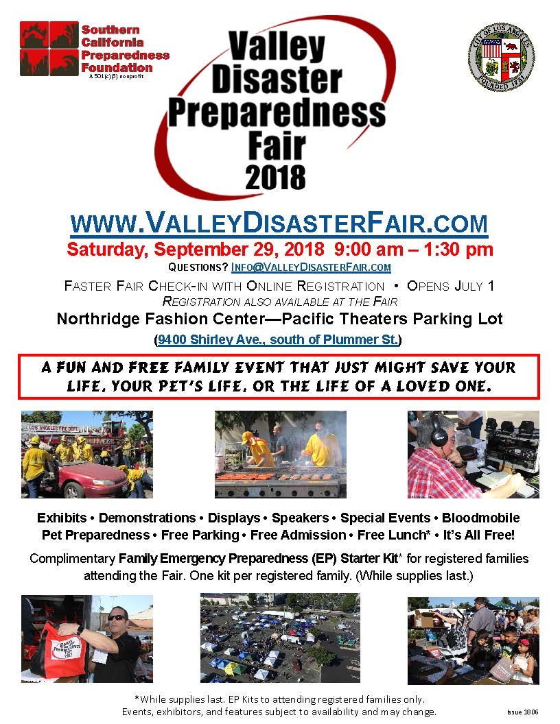 Valley Disaster Preparedness Fair – Northridge West Neighborhood ...