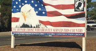 Sign honoring Veterans