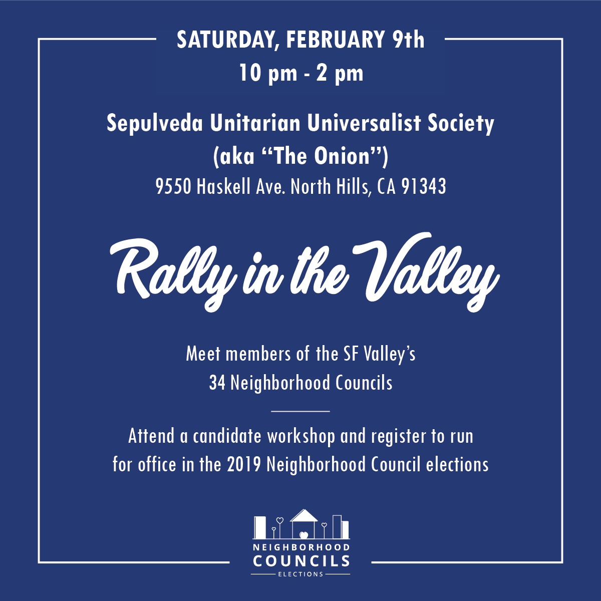 Candidate Workshop: Rally in the Valley