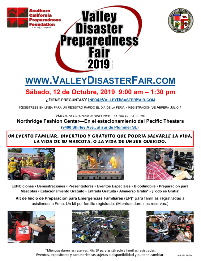 Disaster Preparedness Fair in Spanish