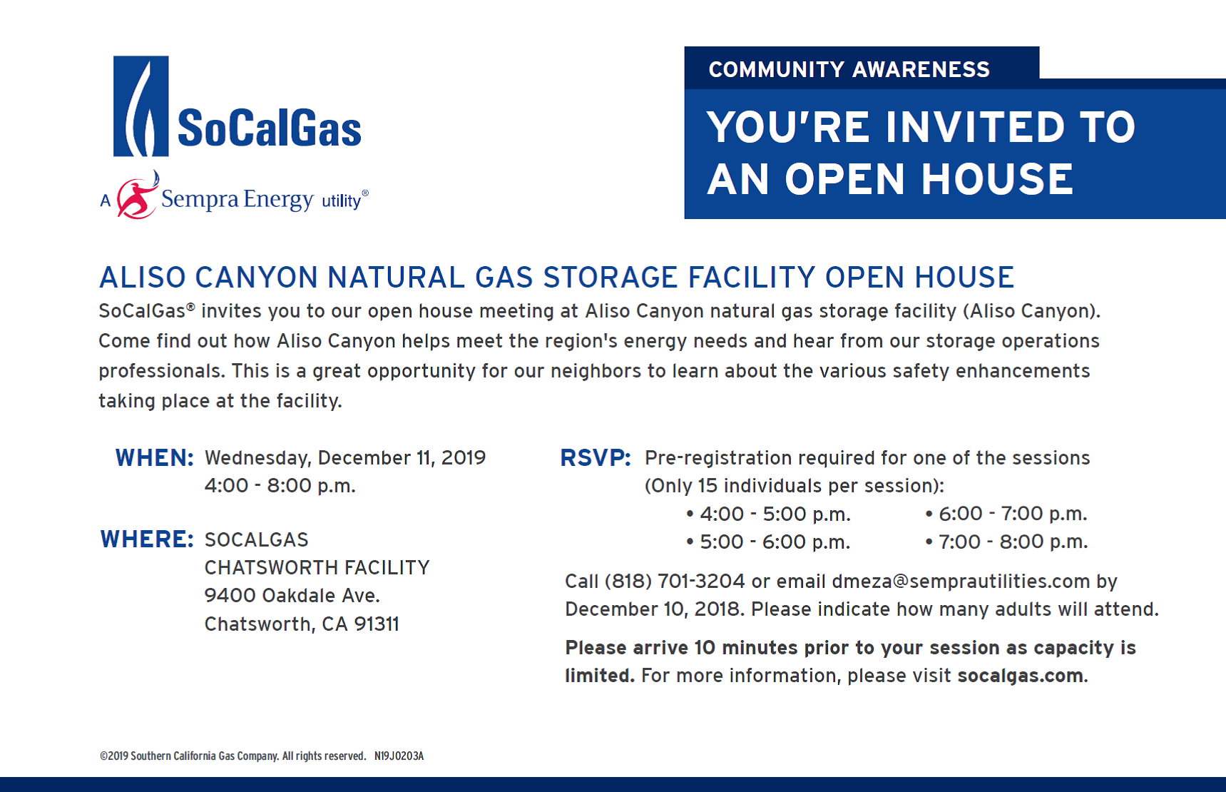 So Cal Gas Open House